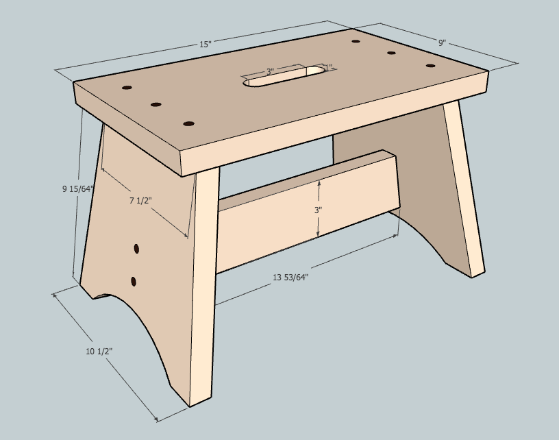 Stepping Stool Plans Simple Shop Stool Plans Chair Step